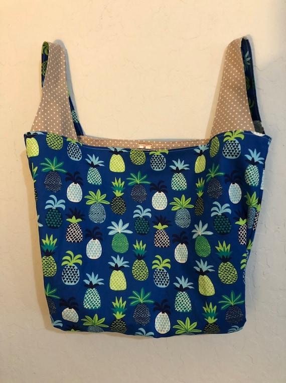Pineapple Reversible Market Bag