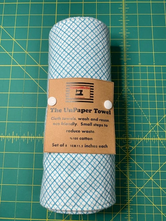 Reusable Unpaper Towel Blue Grid
