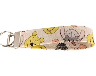 Winnie the Pooh Fabric Keychain