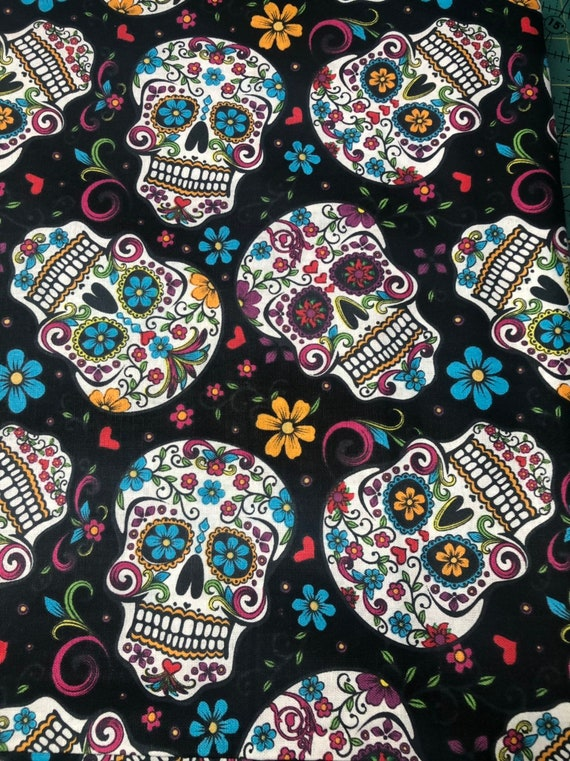 Day of The Dead Sugar Skulls Cloth Napkin
