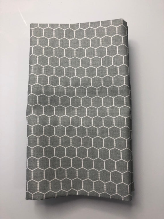 Grey and White Chicken Wire   Cloth Napkin
