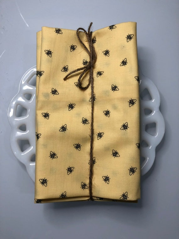 Bees on Yellow Cloth Napkin