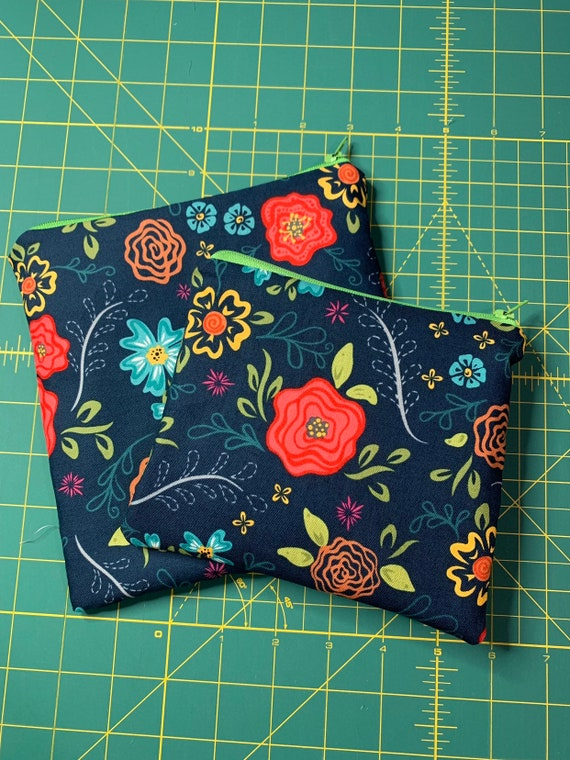 Blue Floral Reusable Snack and Sandwich Bag