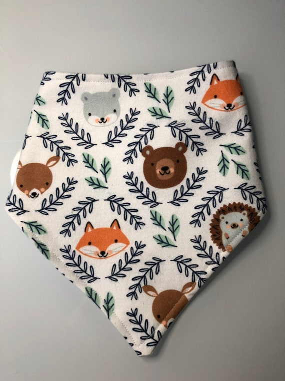 Forest Animal Baby Bandana Bib