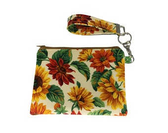Sunflower Carly Wristlet
