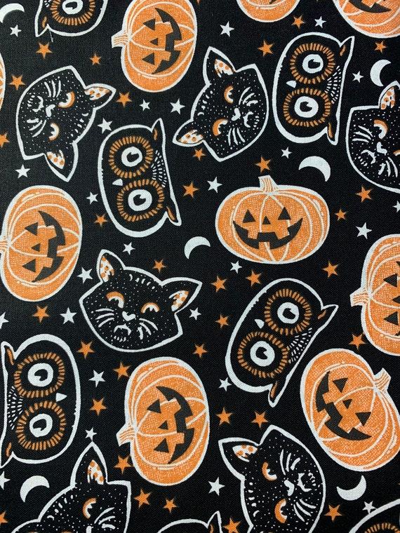 Face Mask Halloween Cats and Pumpkins