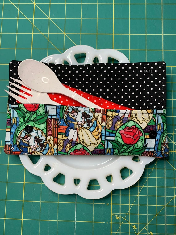 Beauty and the Beast Cutlery Case