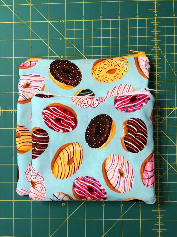 Reusable Snack and Sandwich Bag Donuts