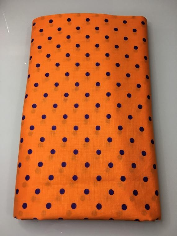 Purple and Orange Polka Dot Cloth Napkin