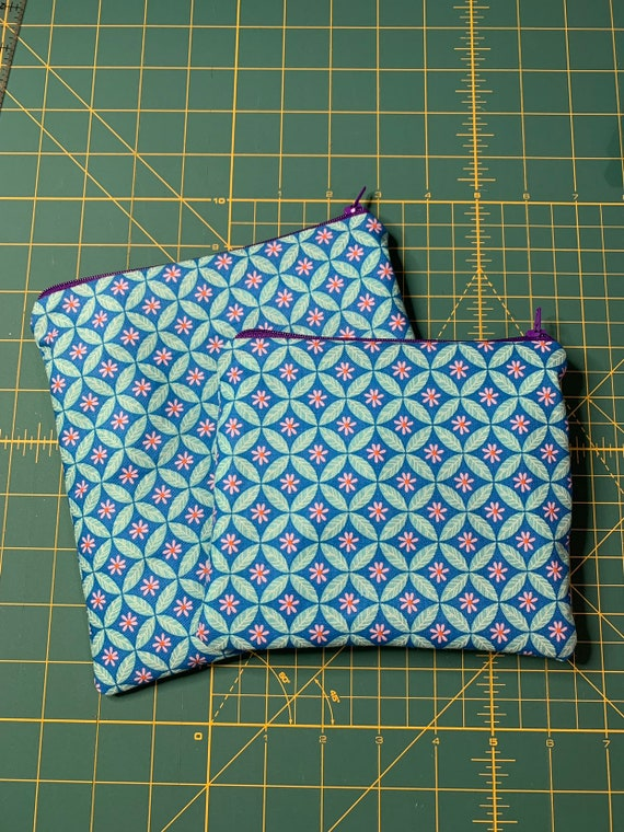 Reusable Snack and Sandwich Bag Teal Diamond