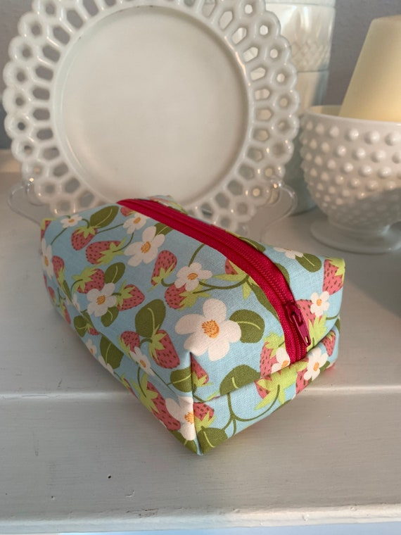 Red Strawberry Cosmetic Case