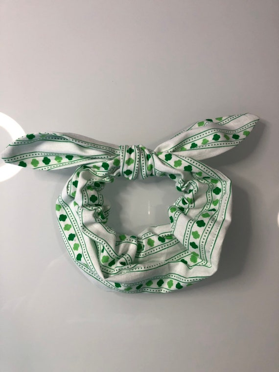 Girl Scout Bow Tie Scrunchie