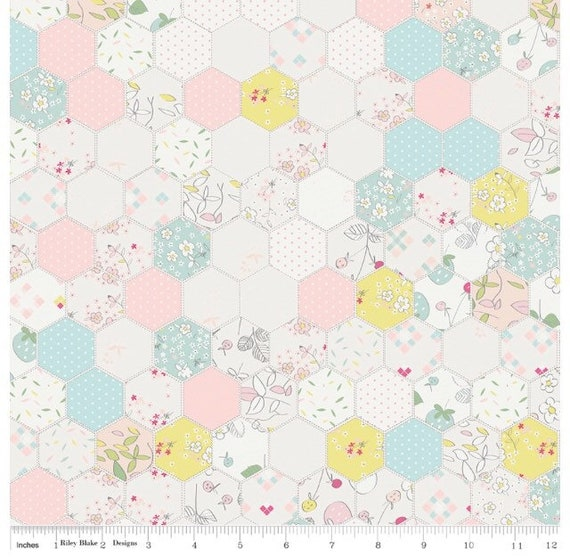 Serendipity, Hexagons in Cream by Riley Blake Designs