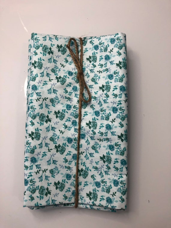 Blue and Green Flower Cloth Napkin