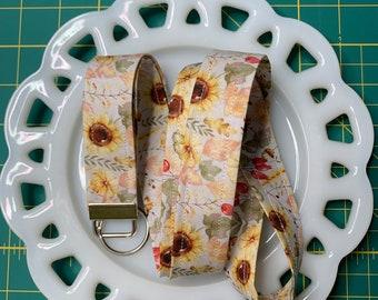 Cream Sunflower Lanyard