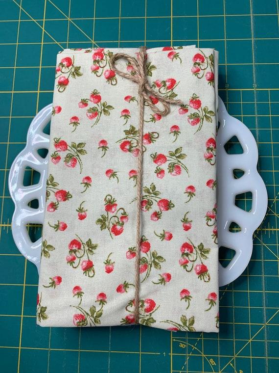 Mint Strawberry Cloth Napkin