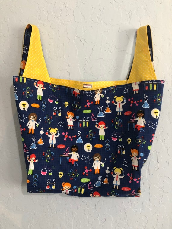 Girls Do Science Reversible Market Bag