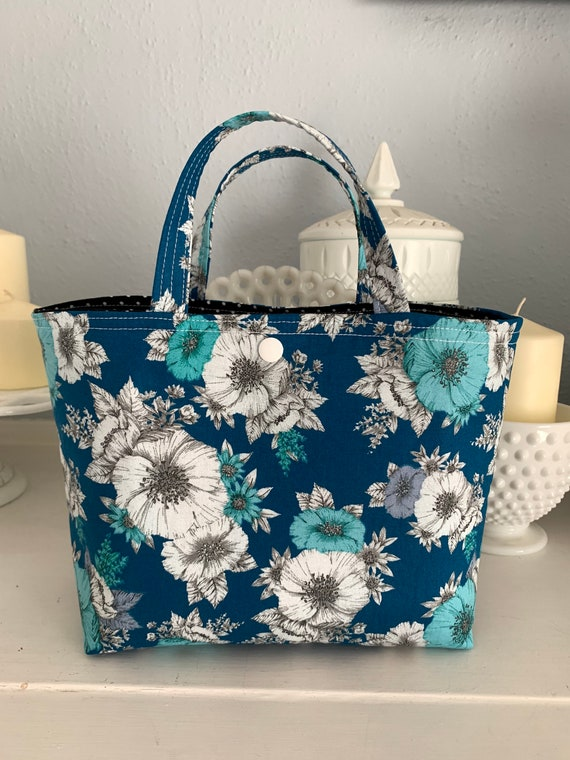 Turquoise Floral Ivy Bag