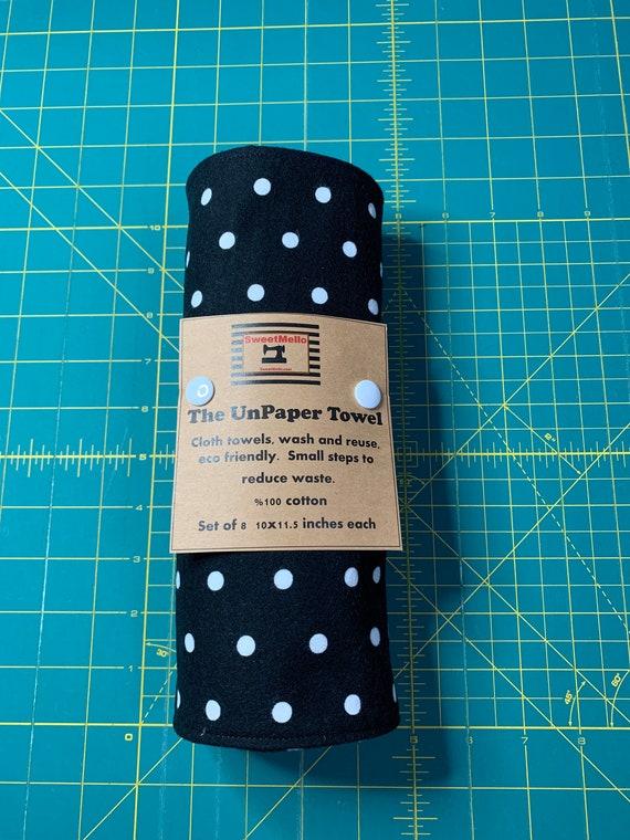 Reusable Unpaper Towel Black&White Polka Dot