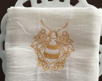 Golden Bee Tea Towel