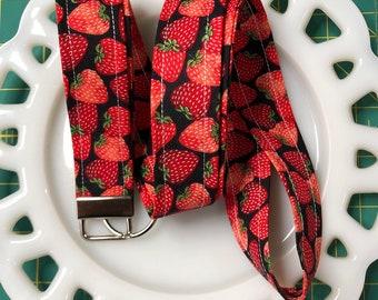Red Strawberry Lanyard