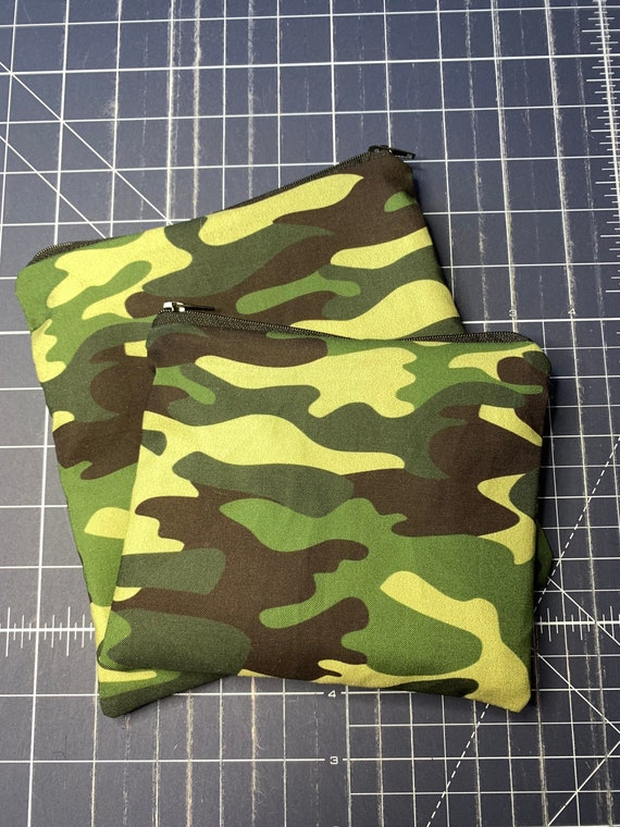 Reusable Snack and Sandwich Bag Green Camo