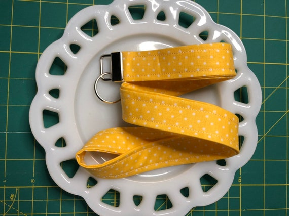 Yellow Polka Dot Lanyard