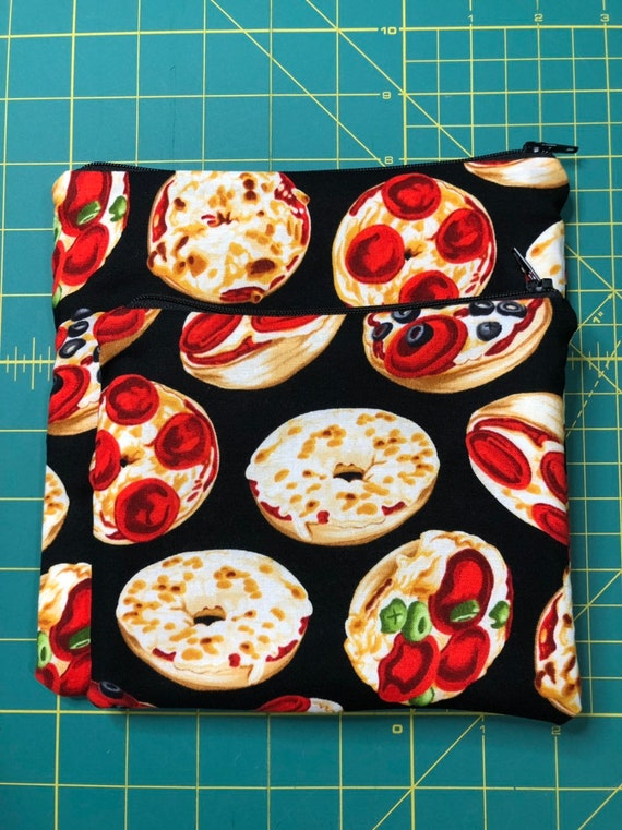 Reusable Snack and Sandwich Bag Pizza Bagel