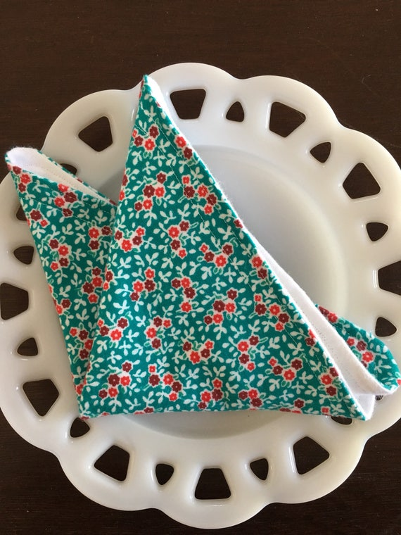 Floral Flannel Washcloths
