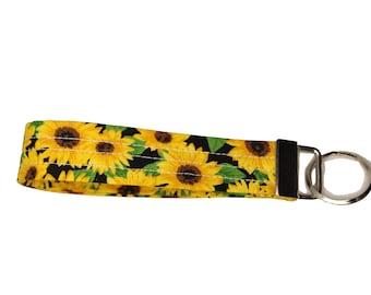 Sunflower Fabric Keychain