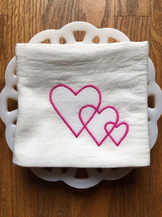 Heart Valentine's Day Tea Towel