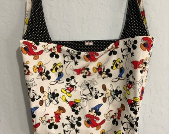 White Mickey Mouse Reversible Market Bag