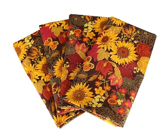 Fall Cloth Napkin with Gold Sparkle