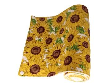 Reusable Unpaper Towel Teal Sunflower