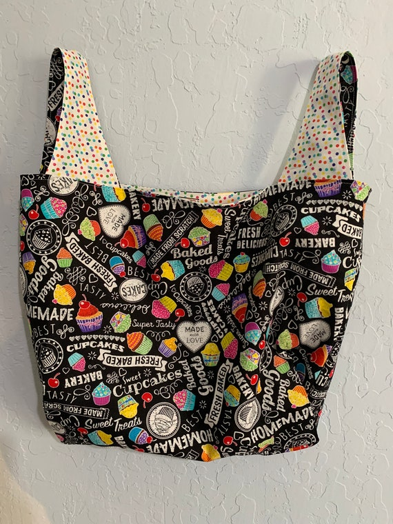 Cupcake Reversible Market Bag