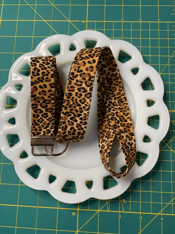 Leopard Print Lanyard
