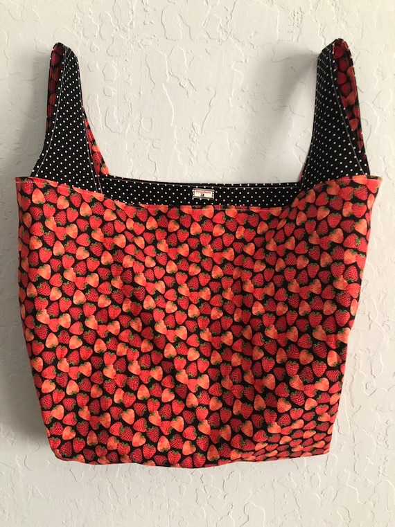 Strawberry Reversible Market Bag