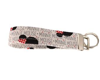 Minnie Mouse Fabric Keychain