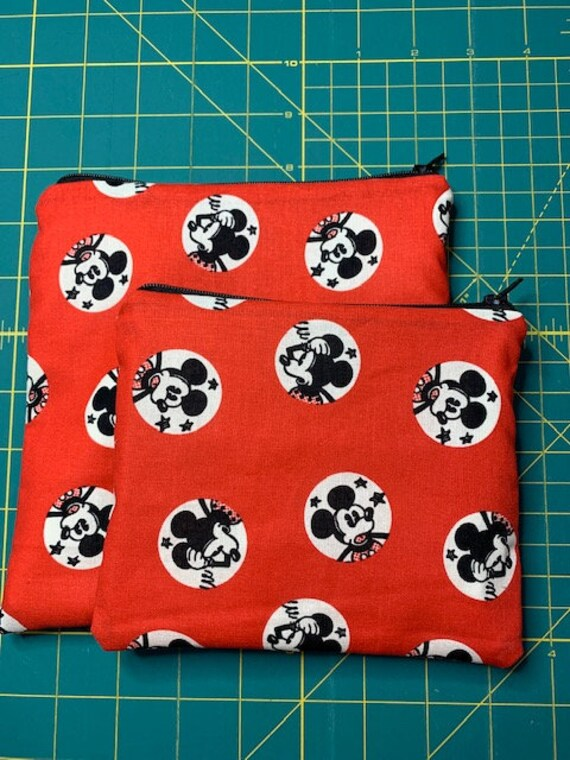 Reusable Snack and Sandwich Bag Red Mickey