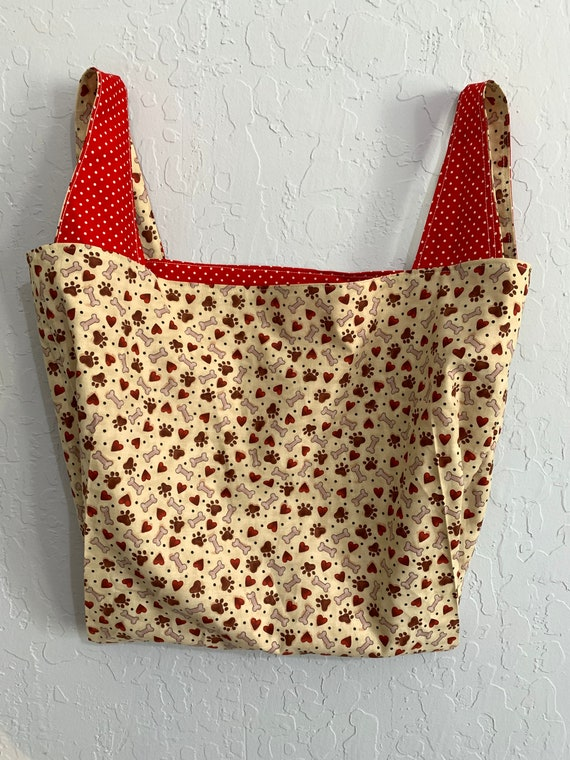 Doggie Bone Reversible Market Bag