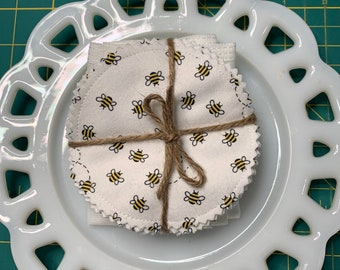Reusable Cotton Rounds Petite Bee