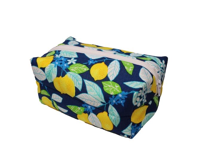 Blue Lemon Cosmetic Case