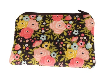Dark Brown and Pink Coin Purse
