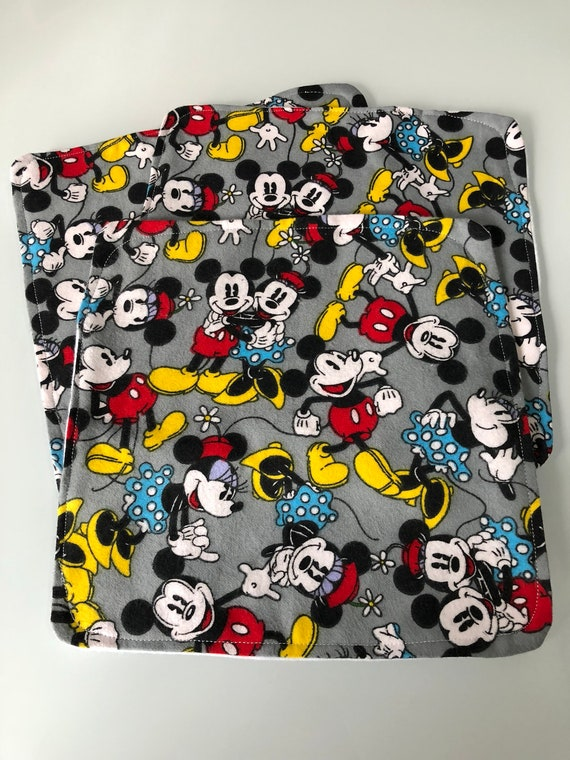 Mickey Mouse Flannel Washcloths