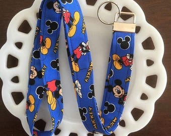 Blue Mickey Mouse Lanyard