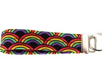 Rainbow Fabric Keychain