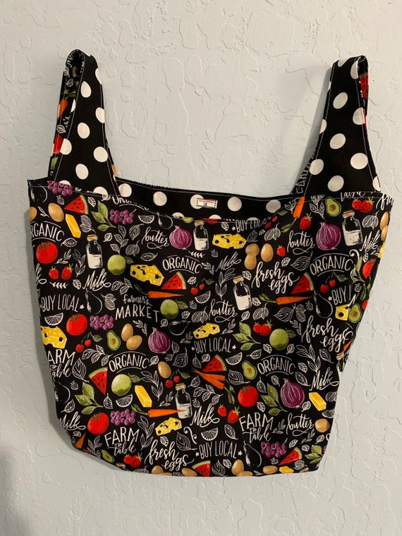 Farmers Market Reversible Market Bag
