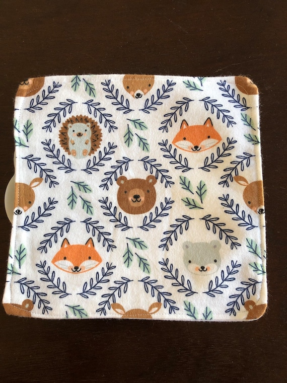 Forest Animal Flannel Washcloths
