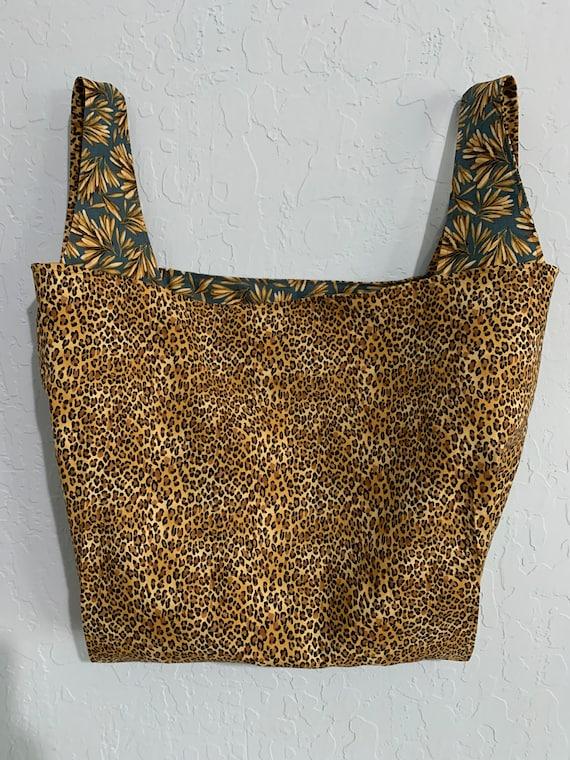 Reversible Leopard Print Market Bag