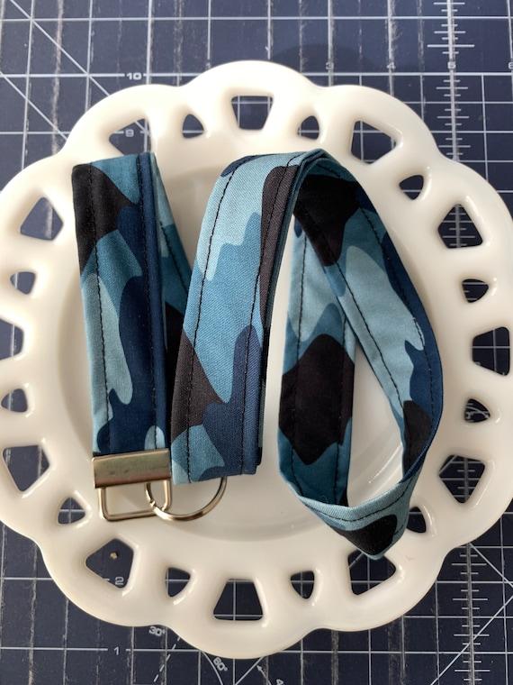 Blue Camo Lanyard